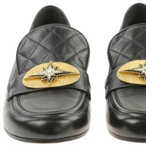 Chanel Comet Lambskin Leather Loafers